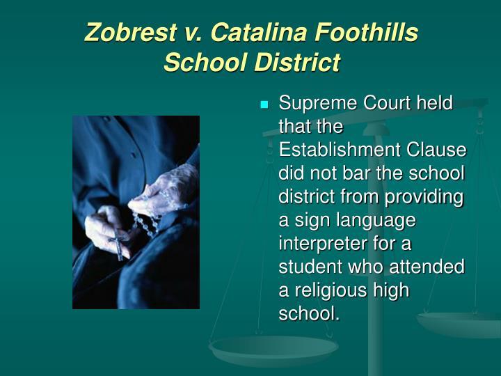 Zobrest v. Catalina Foothills