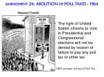 amendment 24 abolition of poll taxes 1964