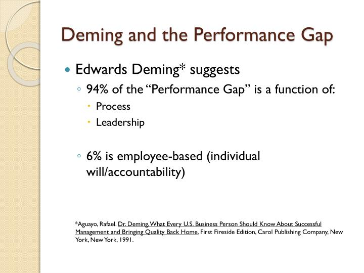 Deming and the Performance Gap