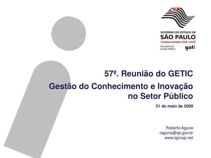 57ª. Reunião do GETIC