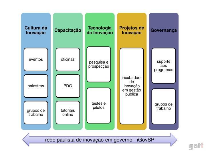 rede paulista de inovação em governo - iGovSP