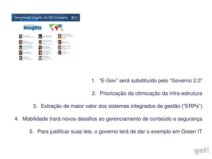 """""""E-Gov"""" será substituído pelo """"Governo 2.0"""""""