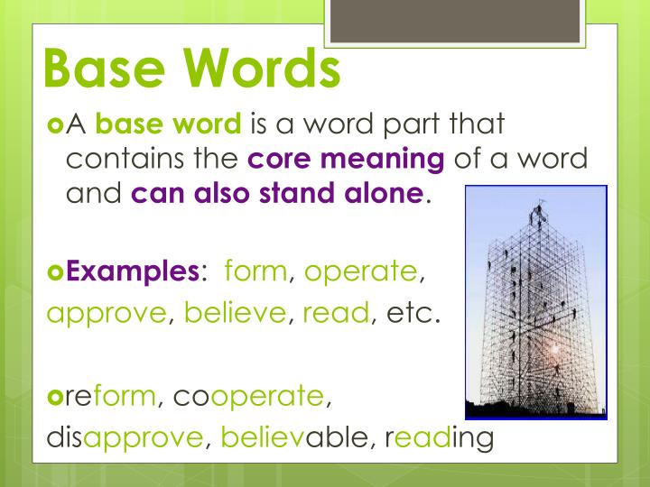 Base Words