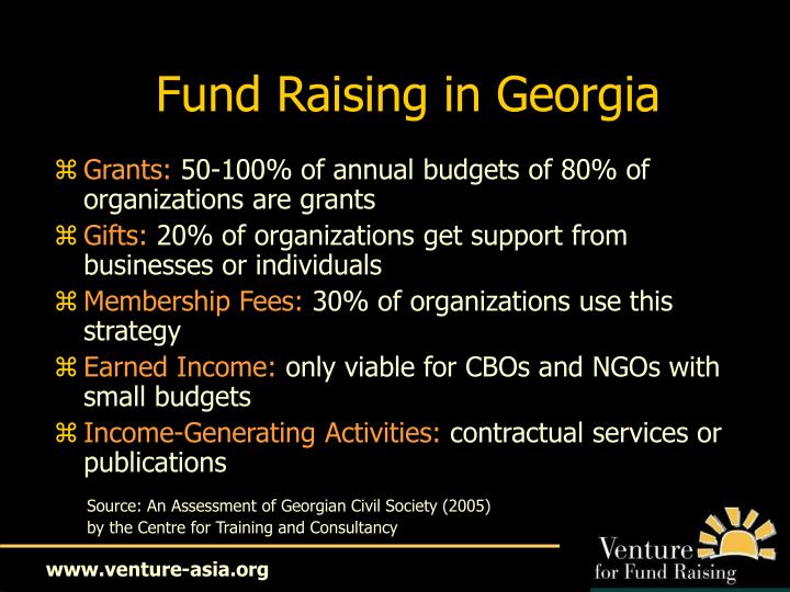 Fund Raising in Georgia