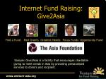 internet fund raising give2asia