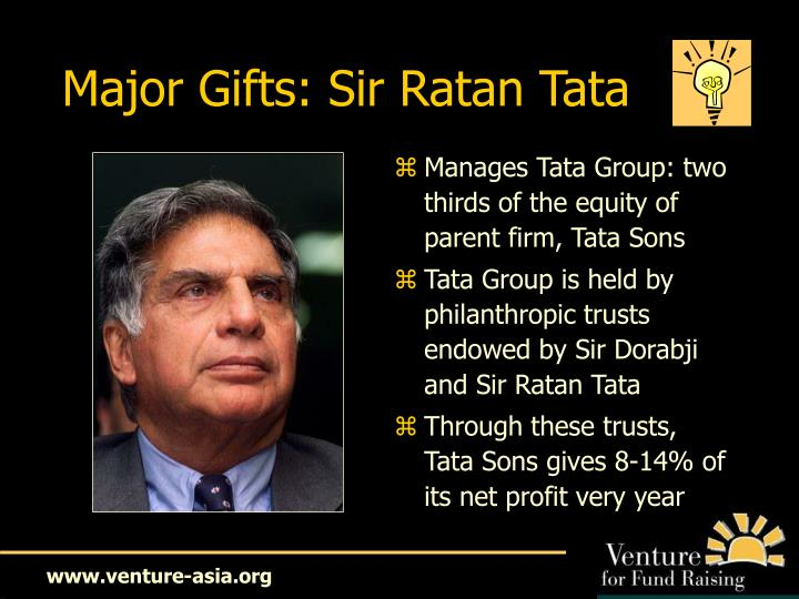 Major Gifts: Sir Ratan Tata