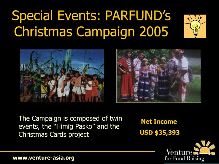 Special Events: PARFUND's
