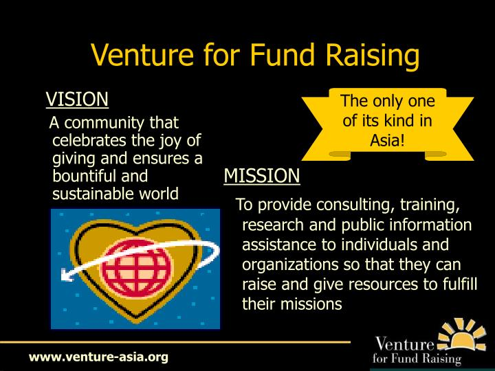 Venture for Fund Raising