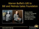warren buffet s gift to bill and melinda gates foundation