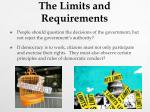 the limits and requirements1