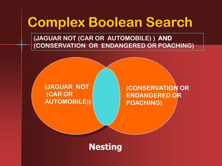 Complex Boolean Search