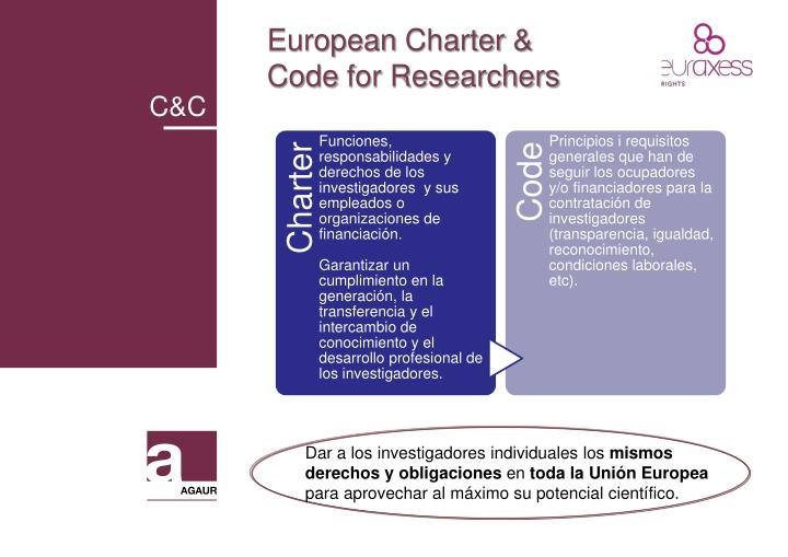 European charter code for researchers