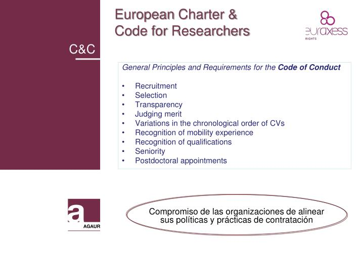 European charter code for researchers1