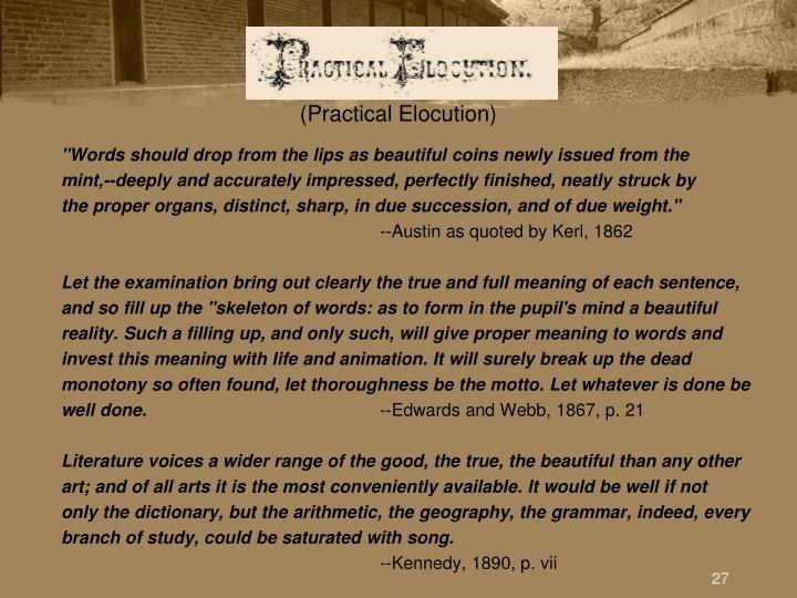 (Practical Elocution)