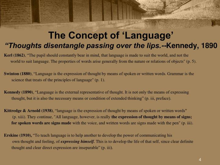The Concept of 'Language'