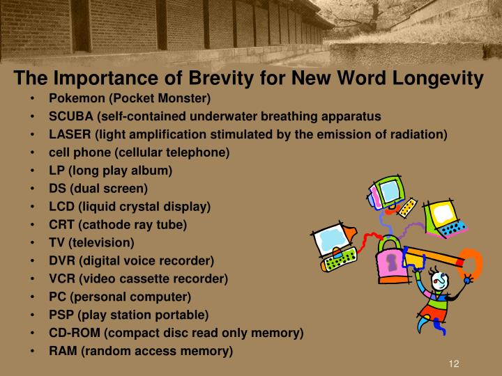 The Importance of Brevity for New Word Longevity