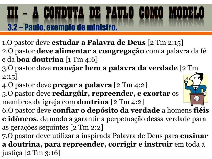 III – A CONDUTA DE PAULO COMO MODELO