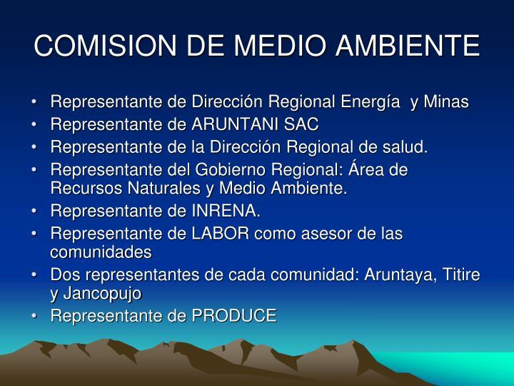 COMISION DE MEDIO AMBIENTE