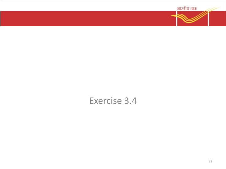 Exercise 3.4