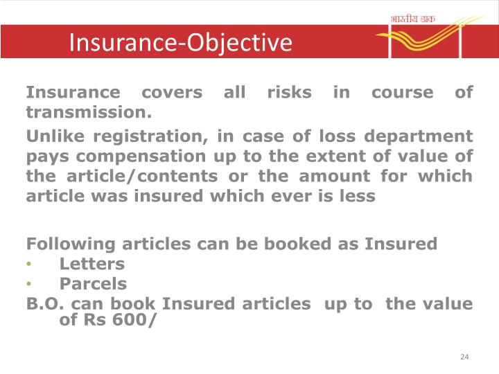 Insurance-Objective