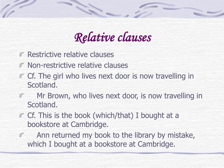 Relative clauses