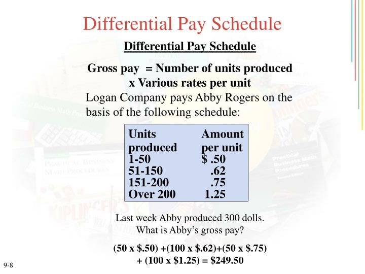 Differential Pay Schedule