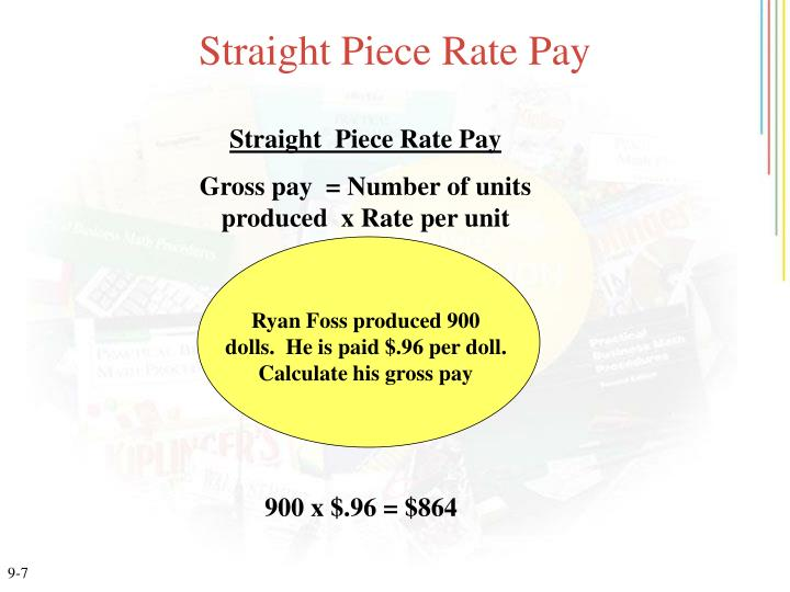 Straight Piece Rate Pay