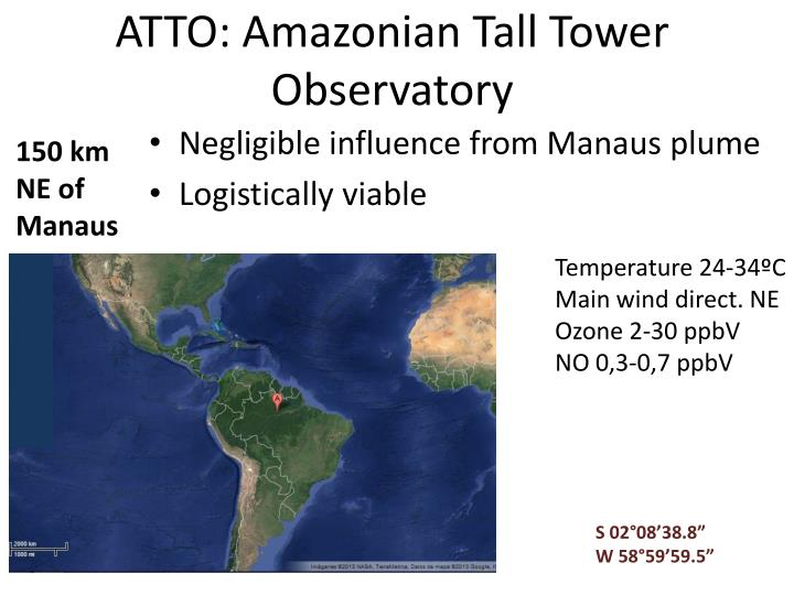 ATTO: Amazonian Tall Tower Observatory