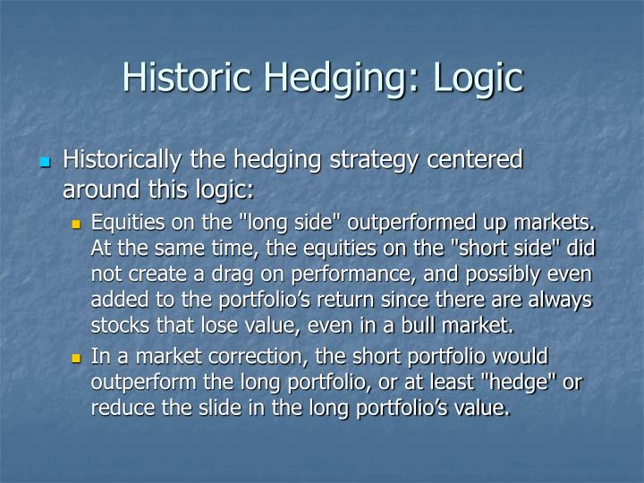 Historic Hedging: Logic