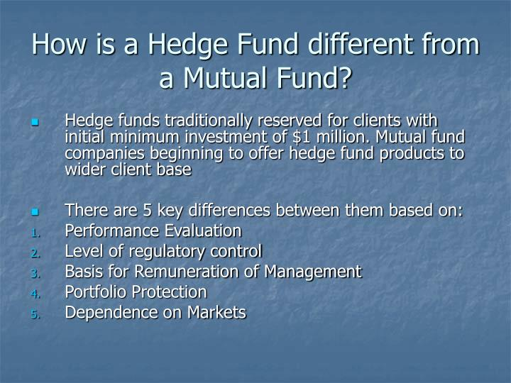 How is a Hedge Fund different from a Mutual Fund?