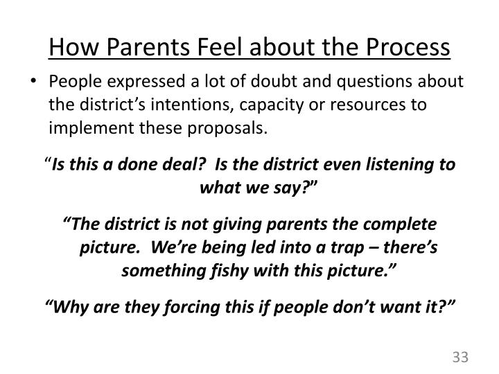 How Parents Feel about the Process