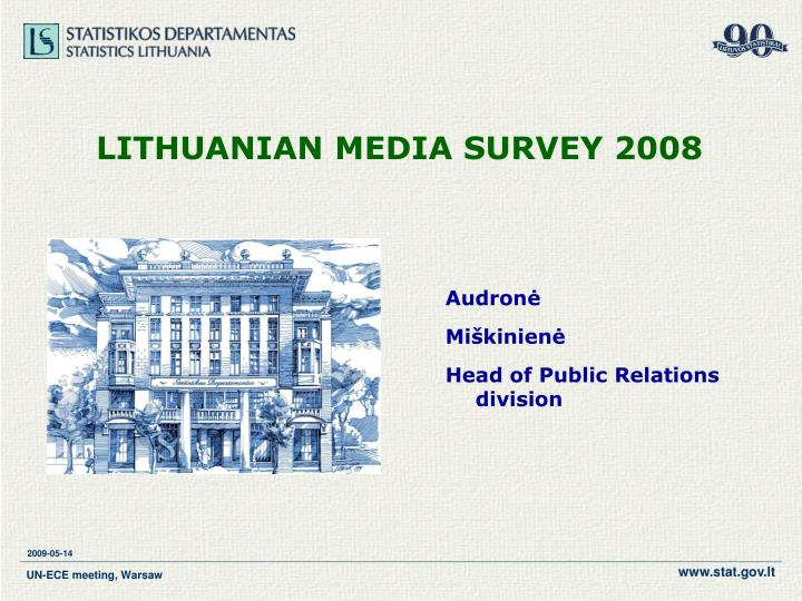 Lithuanian media survey 2008