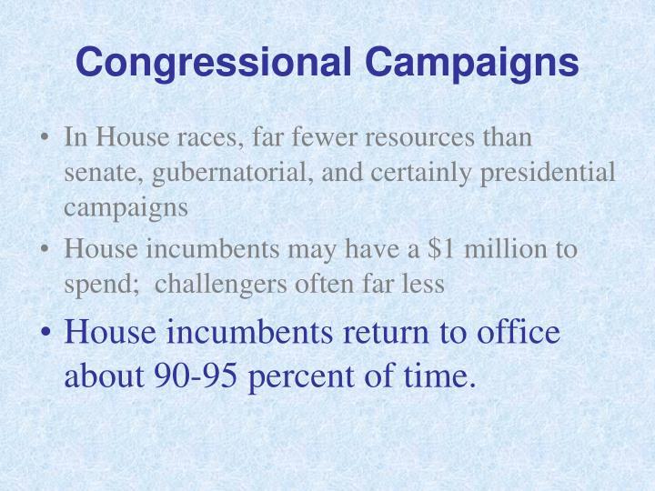 Congressional Campaigns
