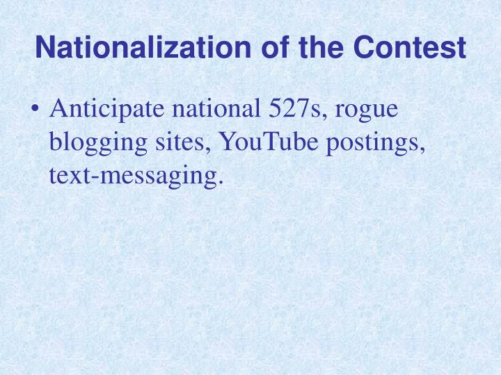 Nationalization of the Contest