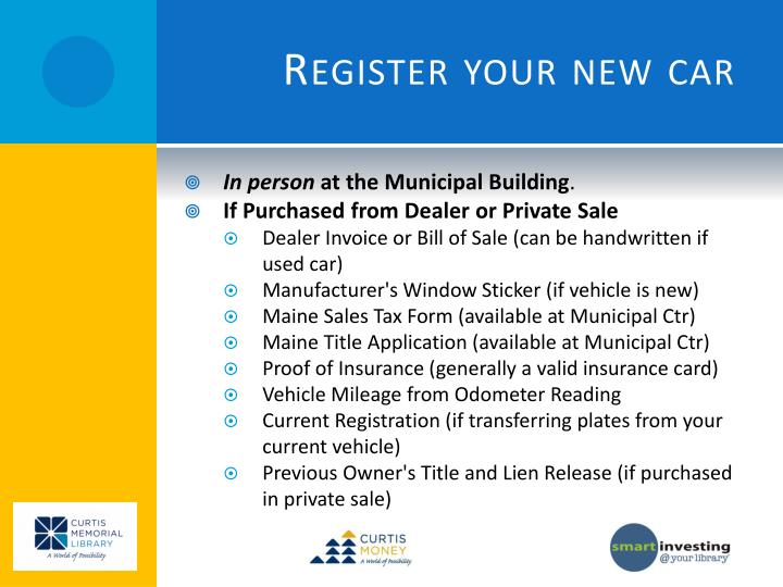 Register your new car