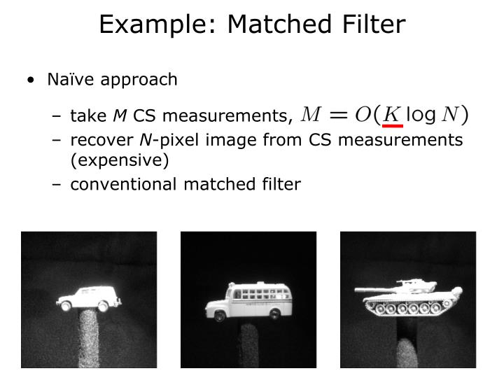 Example: Matched Filter