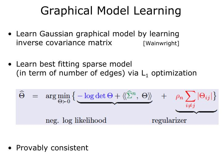 Graphical Model Learning