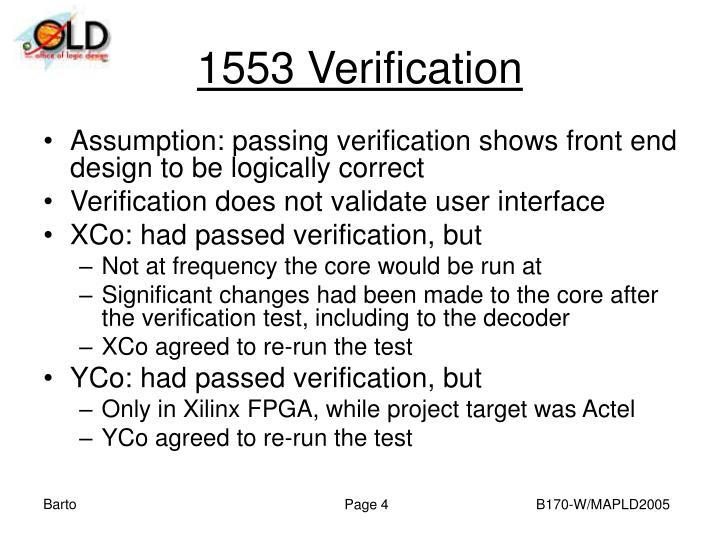 1553 Verification