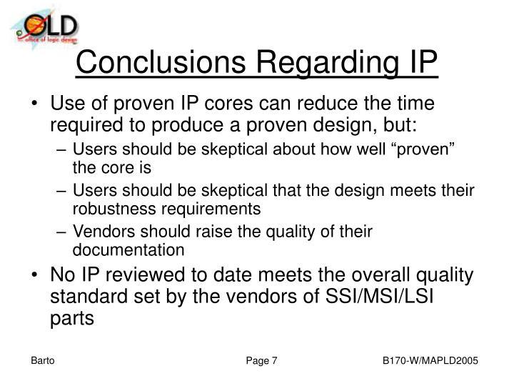 Conclusions Regarding IP