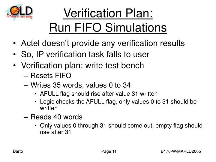 Verification Plan: