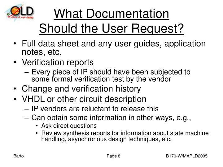 What Documentation