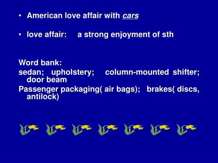 American love affair with