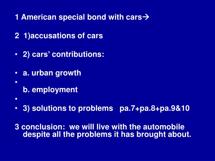 1 American special bond with cars