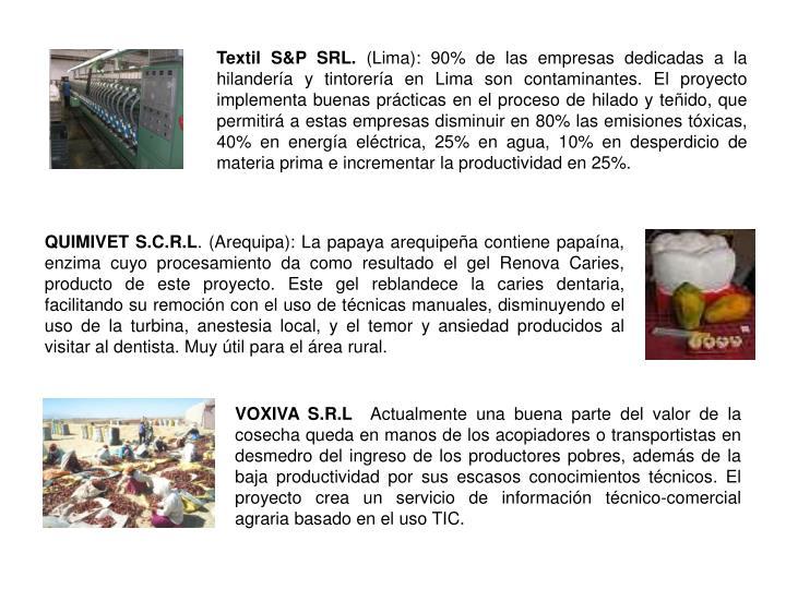 Textil S&P SRL.