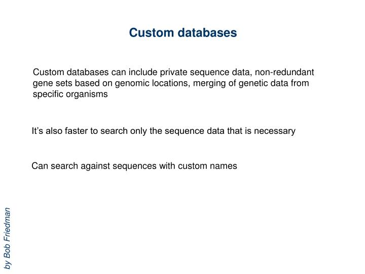 Custom databases