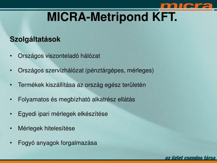 MICRA-Metripond KFT.