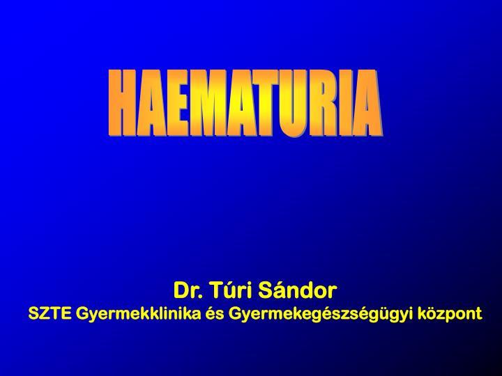 HAEMATURIA