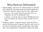 miscellaneous information1