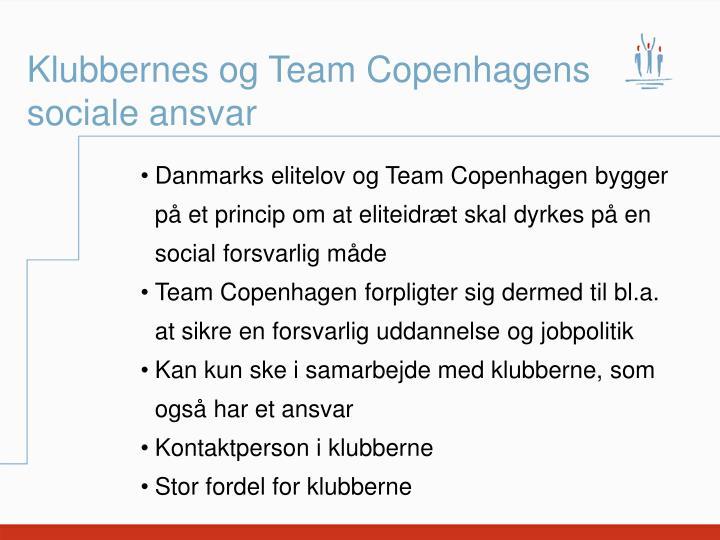 Klubbernes og Team Copenhagens sociale ansvar
