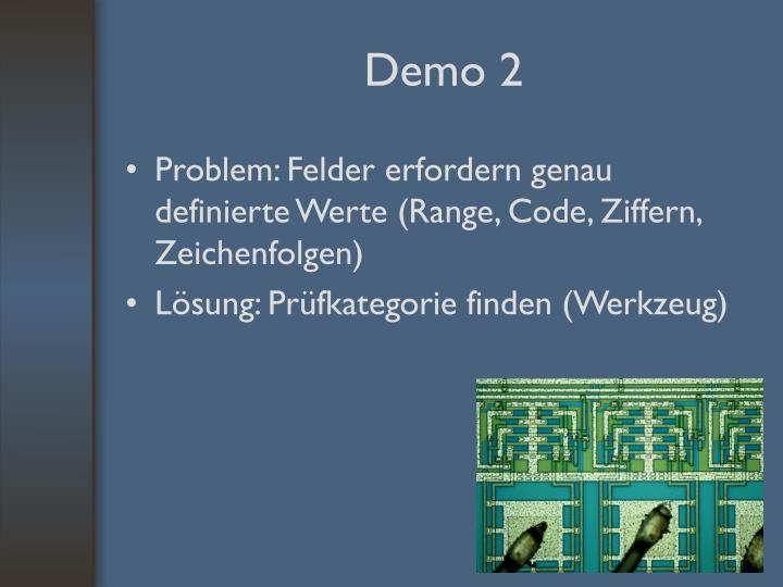 Problem: Felder erfordern genau definierte Werte (Range, Code, Ziffern, Zeichenfolgen)